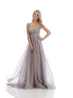Wholesale Simple Chiffon Floor Length Dress - 2015 New arrival exquisite sexy spaghetti strap beaded long formal evening dresses Mother of the Bride