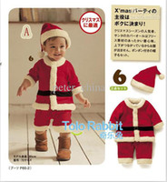 baby sleepsuits - 2012 Christmas Set Baby Rompers Warm Baby Pajamas styles Baby Sleepsuits one piece Jumpsuit caps