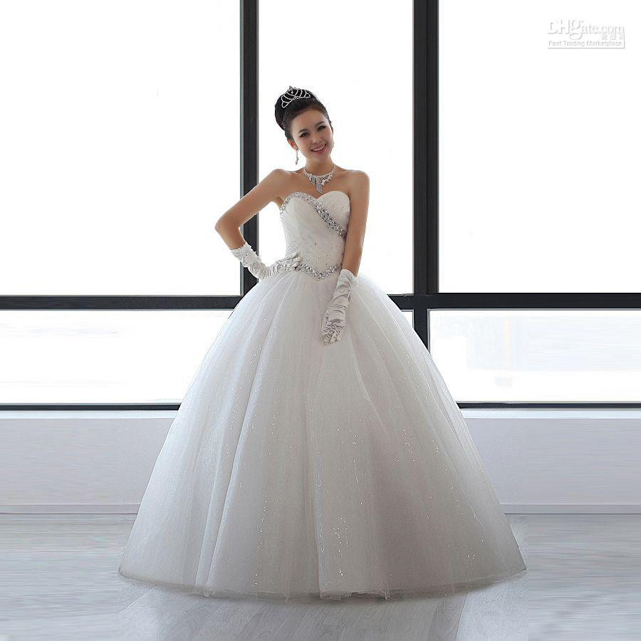 Wedding dress 2012 new korean slim cute ladies temperament for Cute princess wedding dresses
