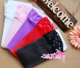 Sexy lingerie accessories lace barreled fishnet stockings Multicolor