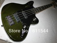 Solid Body jaguar - Bass Guitar New Arrival Strings Jaguar Electric Bass Green Top Musical instruments HOT