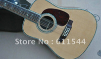 Wholesale 12 String Acoustic Guitar Spruce Top Abalone Binding Body Guitar Top Quality