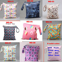 Print baby travel carrier - Baby Diaper Nappy Bags Travel Cloth Diaper Wet Bag Laundry Wet Dry Bags Animal Print Mummy Handbag Carrier Storage Bag Organizer