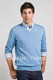 Wholesale Size fashion Men s v neck cotton crocodile sweater color design Man Cardigan woolly