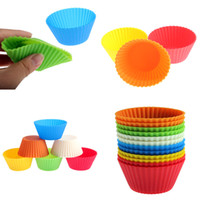 Wholesale 600 Soft Silicone Round Cake Muffin Chocolate Cupcake Liner Baking Cup Mold cm