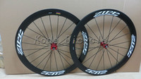 Wholesale ZIPP mm clincher tubular bicycle wheels c carbon fiber road bike racing wheelset red hubs