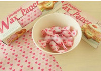 Wholesale Food wrapping paper sandwich Hamburger Patty Deli Waxed Paper Sheets cake bread sugar desert