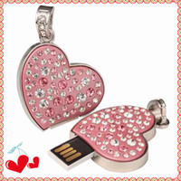 4gb 8gb 16gb 32gb USB Flash Drive in Heart- shaped Style With...