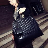 Wholesale 2012 Trend Plaid Pattern Bag PU Leather Tote Bags Fashion Women Handbags and