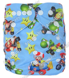 Wholesale New Coming Baby Washable Cotton Prefold Cloth Nappies Without Insert Jctrade Cartoon Diapers