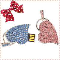 Fashional USB Flash Drive in Heart- Shape Design with Pink Bl...
