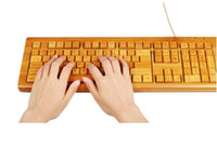 Wholesale bamboo external keyboard digital equipment external keyboard bamboo crafts business gifts creative g