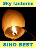 Wholesale Sky Lanterns White Chinese Paper Flying Fire Air Wishing Candle Lanterns Weddings For Sale
