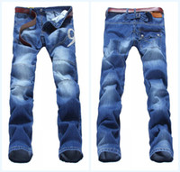 Wholesale Designer Mens Jeans Men Jeans Long Straight Strouser Denim Casual Jeans Size Cheap