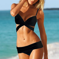 Wholesale Bikini beach wear sexy swimwear Fashion bikini swimwear female split big small push up bikini sexy3