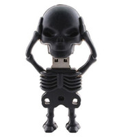 Wholesale black skull man real gb gb gb gb gb USB flash drive stick Pendrive Udisk thumb drive pen key