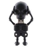 Wholesale black skull man real gb gb gb gb gb USB flash drive stick Pendrive Udisk thumb drive pen key