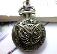 Women's antique victorian necklaces - 12pcs Steampunk Victorian Owl Pocket Watch Necklace Chain Dia quot WN11077
