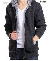 Wholesale Winter Coats For Men Fur Lined Hoodie Men s Designer Fur Lined Hood Jackets Sweaters