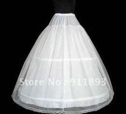 Wholesale Promotion New Fashion White High Quality Three Hoop Cheap Wedding Petticoat