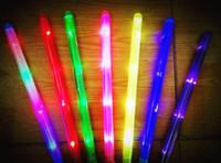 Wholesale LED Colorful rods led foam stick flashing foam stick light cheering glow foam stick foam led