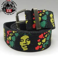 Wholesale Bob marley cloth belt strap hiphop accessories