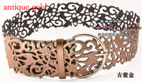 Wholesale 1 Ultra wide belt decoration fashion lady hollow sash waistband women girdle colors YD036