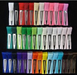 Wholesale Single Prong Ribbon Lined Alligator Hair Clips lined clip lined clips from alligator clip