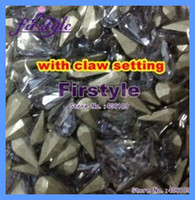 sew on stone with claw setting Rhinestones  tear drop crystal fancy stone with claw setting 7.8x13m pear beads metal claw setting lt siam....ect