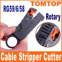 Herramienta coaxial rotatoria del cortador del separador del cable para RG59 RG6 RG58 Cables Freeshipping Envío C1052 de la gota