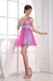 Wholesale 2013 Actual Image One Shoulder A Line Ruffled Sequins Homecoming Dress Party Sweet Dresses