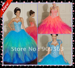 Wholesale Sweetheart Ball Gown Sparkle Beaded Net with jacket blue Quinceanera Dresses