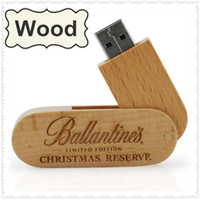 2GB 4GB 8GB 16GB Wooden USB Drives In Rotation Design + Free...