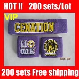 Wholesale VIP HOT COOL NEW Purple wristband John cena purple sweatbands wristbands sweatband and