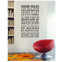 Wholesale House Rule Wall Sticker In This House Wall Quote Saying Size cm