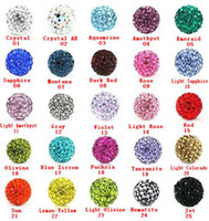 Wholesale 10MM DIY Clay Disco Balls Beads CZ Crystal Clay beads Pave Macrame Bracelet Rhinestone