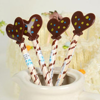 Wholesale New Gel pens Chocolate bar Pattern roller ball pen With Rose Small gift for Lover Sign Pens