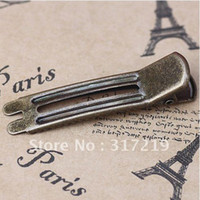 Wholesale DIY Jewelry hair clips accessories Antique Bronze mm DIY Alligator hair pin clips with teeth