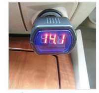 Wholesale 12V V RED DIGITAL LED CAR AUTO vehicle battery VOLTMETER VOLTAGE Volt Meter