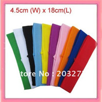 Wholesale 4 cm wide nylon headbands hair bands bag can mixed color