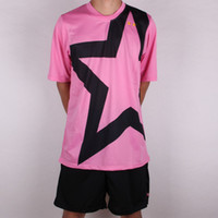 Wholesale Customized Blank Jersey rd Away Pink Soccer Jersey Shirts Football Jerseys With Shorts