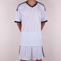 blank football jersey - Customized Blank Home Jersey White Soccer Jerseys Football Jersey With Shorts