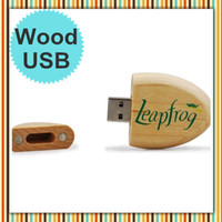 Real 2GB 4GB 8GB 16GB Wooden USB Drives in Oval Style + Free...