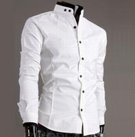 Men casual shirts - New Stylish Men s Shirt Fashion Casual Shirts Dress Shirts Black White M L XL XXL