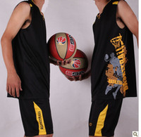 Wholesale Customized Black Basketball Clothes Jerseys Sets Uniforms Suits Men Jersey Asian Size XL XL