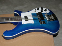Wholesale HOT new arrival blue Custom strings Electric Bass Guitar