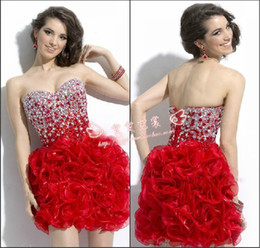 Wholesale The sweet princess short dress Sweetheart Sleeveless prom dresses A Line sexy wedding dress