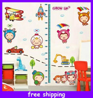Wholesale Baby Hight Cartoon Ruler Kids Growth Chart Height Measure Sticker DIY Decoration Wall Stickers
