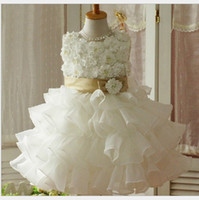 Wholesale 2013 girl dress Flower Princess laminated wedding baby dresses girls party girl tutu dress JAN39