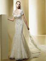 Trumpet/Mermaid beautiful autumn photos - 2013 Hot Sale Beautiful Bridal Most Popular White Sweetheart Charming Net Beads Wedding Dresses